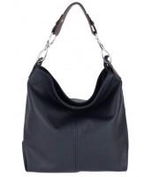 Kožená dámska kabelka Shaila tmavá modrá - KK-S7116 BN BLU NAVY