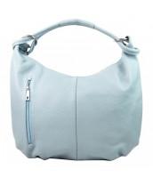 Kožená dámska kabelka cez plece Reba svetlo modrá - KK-S7161 CE CELESTE