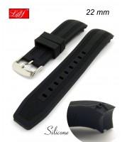 Remienok 22 mm - čierny - silikónový