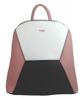 Ružový dámsky elegantný batôžtek - 4187-TS