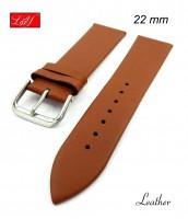 Hnedý kožený remienok šírka 22 mm - pravá koža