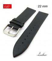 Čierny, kožený remienok 22, 24 mm - pravá koža