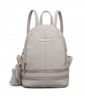 Roztomilý dizajnový sivý dámský batôžtek Miss Lulu - LU-LT1705