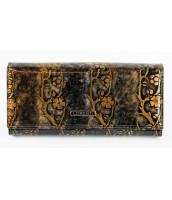 Lorenti zlatá dámska kožená peňaženka s kvetmi v darčekovej krabičke - 72401