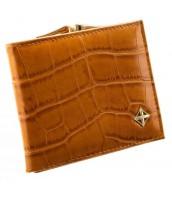 Camel hnedá kroko dámska peňaženka v darčekovej krabičke MILANO DESIGN - SF1814