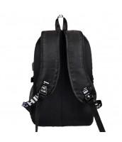 Fortnite svietiaci čierny študentský batoh, USB port, Unisex - FORTNITE