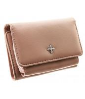 Camel hnedá menšia dámska peňaženka v darčekovej krabičke MILANO DESIGN - SF1858