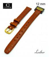 Pravý kožený remienok šírka 12 mm - pravá koža