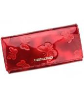 Kožená červená dámska peňaženka Gregorio s motýľmi v darčekovej krabičke - BT106