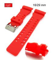 Červený plastový remienok - 16/29 mm - plastový - 10RE8181C