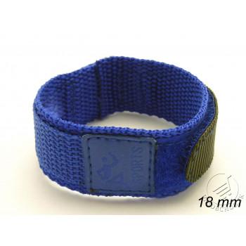 Remienok 18 mm - na suchý zips - modrý
