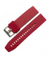 Červený gumený remienok na hodinky šírka 22mm - plastový - 10RE8741C