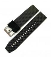Čierny gumený remienok šírka 22 mm - plastový - 10RE874C