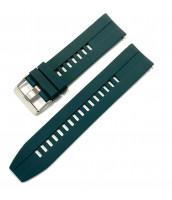 Zelený gumený remienok šírka 22 mm - plastový - 10RE878Z