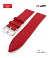 Červený, kožený remienok 22, 24 mm - pravá koža