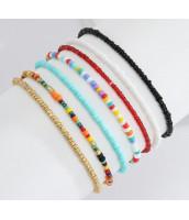 Set korálkových náramkov z farebného rokajlu - ET0905