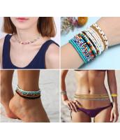 čierny korálkový náramok / náhrdelník / pás z rokajlu - RK0206