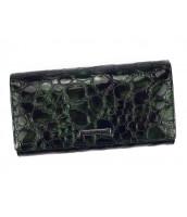Kožená tmavo smaragdová dámska peňaženka Gregorio v darčekovej krabičke - FZ-102