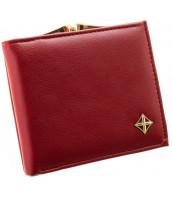 Červená matná dámska peňaženka v darčekovej krabičke MILANO DESIGN - SF1814 -YD