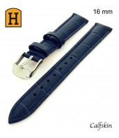 Modrý kožený remienok šírka 16 mm - pravá teľacia koža - 50RE180