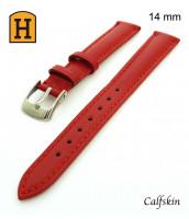 Červený, kožený remienok šírka 14 mm -  pravá teľacia koža - 50RE189