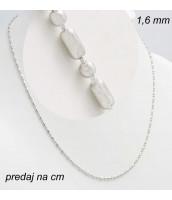 Oceľová retiazka šírka 1,6 mm - dĺžka na výber