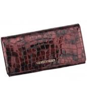 Kožená višňová dámska peňaženka Gregorio v darčekovej krabičke - FS-100