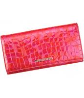 Kožená červená dámska peňaženka Gregorio v darčekovej krabičke - FS-100