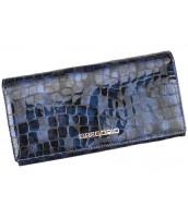 Kožená modrá dámska peňaženka Gregorio v darčekovej krabičke - FS-100