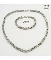 Oceľová súprava šperkov 5 mm -  237571