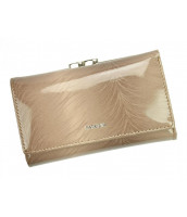 Hnedo-béžová dámska kožená peňaženka PATRIZIA PIU, RFID v darčekovej krabičke - FF-108