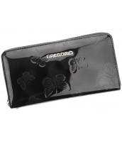 Luxusná čierna dámska kožená peňaženka Gregorio v darčekovej krabičke - BT-119