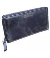 Modrá metalická dámska kožená peňaženka Pierre Andreus s RFID v darčekovej krabičke - N511