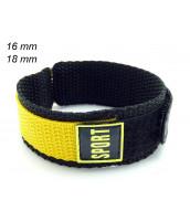 Žltý remienok 16 mm a 18 mm - na suchý zips