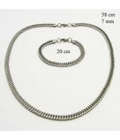 Oceľová súprava náhrdelník a náramok 237314-