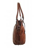 Veľká dámska kabelka / vrece cez rameno, hnedá - 334-MH
