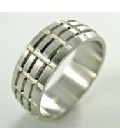 Oceľový prsteň so vzorom - 232651B