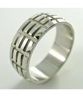 Oceľový prsteň so vzorom - 232651A