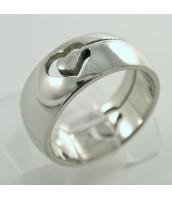 Oceľový prsteň SRDCE - 232634A