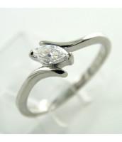 Oceľový prsteň so zirkónom - 232599A