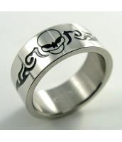 Oceľový prsteň LEBKA - 232497A