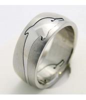 Oceľový prsteň DELFÍN - 232246