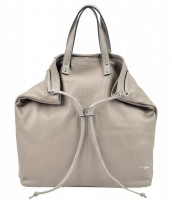 Kožená veľká dámska kabelka do ruky / ruksak Pierre Cardin, tmavo béžová - NPA 40