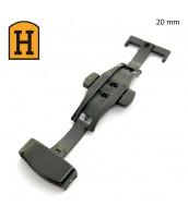 Čierna oceľová spona na remienok 20 mm - 250713-18