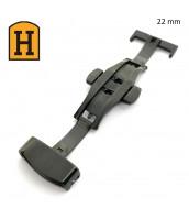 Čierna oceľová spona na remienok 22 mm - 250715-22