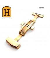 zlatá, oceľová spona na remienok 22 mm - 250711-22