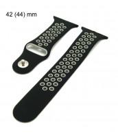 Čierno-šedý remienok 42/44 mm - na Apple Watch - kaučukový - 10RE753S