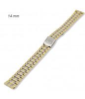 Oceľový remienok na hodinky bi-color šírka 14 mm