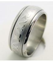 Oceľový prsteň so vzorom - 232236A