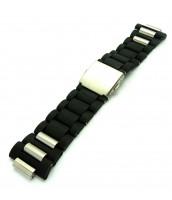 Čierny, plastový remienok na hodinky Lumir 111191